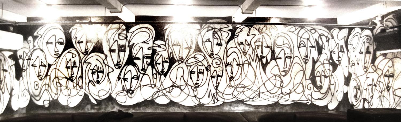 EVR - An Urban Art Mural by Jordan Betten and Artist Sun Bae painted with & Urban Art Wall Murals Spray Painted by Jordan Betten
