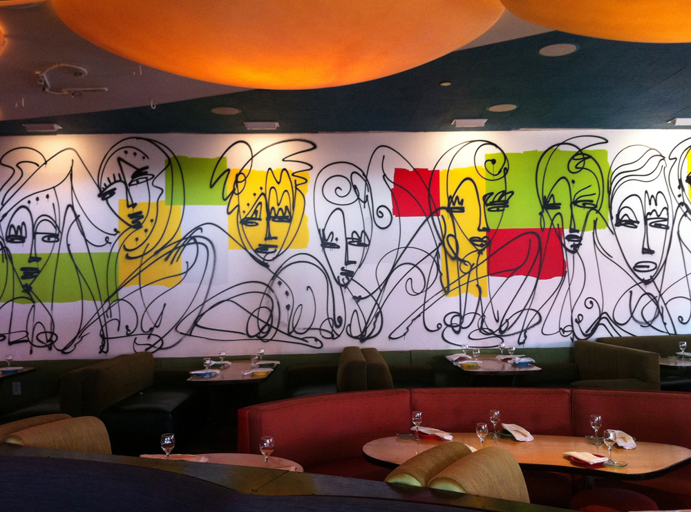 Samba People - An Urban Art Mural by Jordan Betten